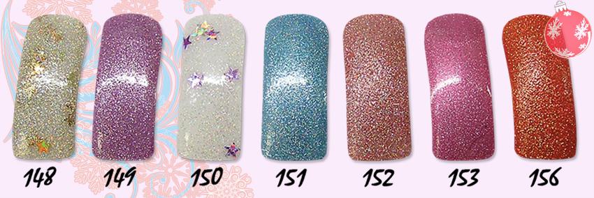 лак для ногтей с блестками, лак для ногтей с блестками фото, EL Corazon Glitter Shine 148,149,150,151,152,153,156